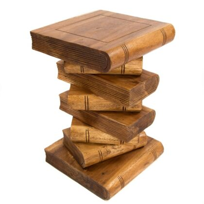 Book Stack Table - Waxed