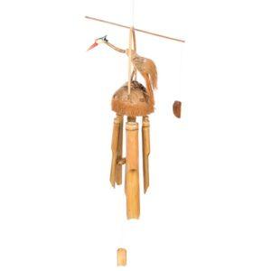 Winged bird bamboo windchime