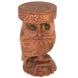 Hand Carved Wooden Owl Side Table - Stool - Plant Stand