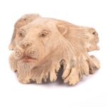 Hand Carved Lion Head