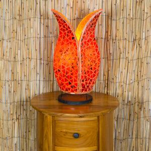 Mosaic Tulip Lamp - Orange - 40cm