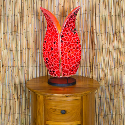 Mosaic Tulip Lamp - Red - 40cm