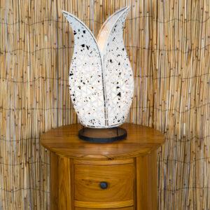 Mosaic Tulip Lamp - White - 40cm