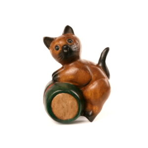 Cat On A Barrel