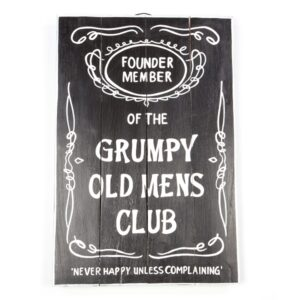 Grumpy Old Men Wall Hanging