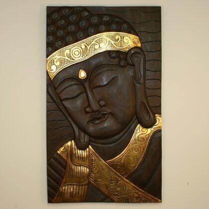 Brown Buddha Gold Bandana Wall Hanging