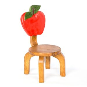 Kids Wooden Apple Chair