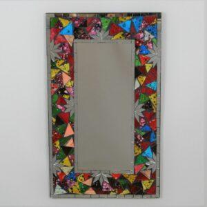 Multi Colour Oblong Mosaic Mirror