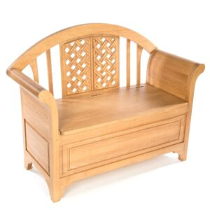 Chair With Blanket Box - Natural
