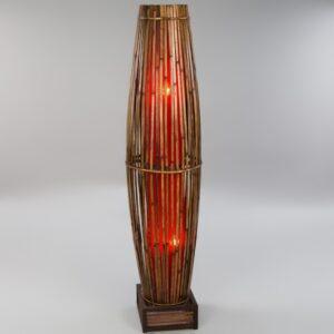 Plain Bamboo Tube Lamp - Red - 150cm.