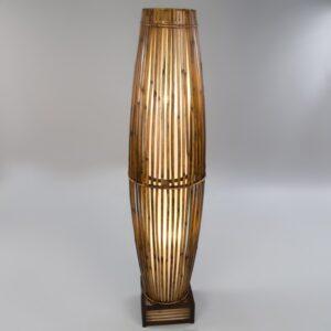 Plain Bamboo Tube Lamp - Cream - 150cm