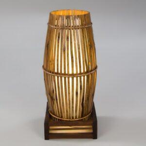 Plain Bamboo Tube Lamp - Cream - 50cm
