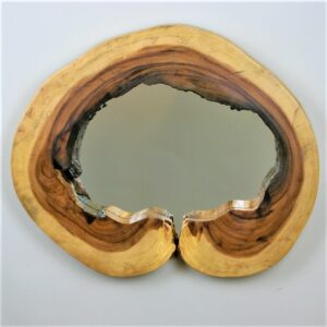 Mirror with Monkey Pod Frame - Large