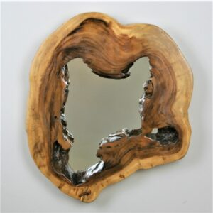 Mirror with Monkey Pod Frame - Medium