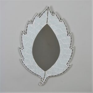 Leaf Mosaic Mirror - White