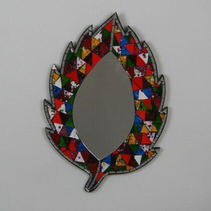 Leaf Mosaic Mirror - Multi Colour