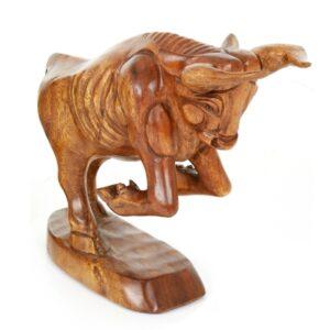 Wooden Bull - Medium 12 inch