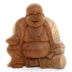 Small Brown Fat Sitting Buddha
