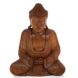Medium Brown Meditating Sitting Buddha