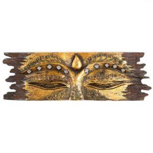 Buddha Eye Wall Hanging - Rough Edge - Gold
