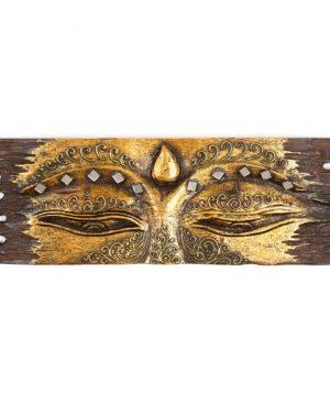 Buddha Eye Wall Hanging - Rough Edge - Gold - Small