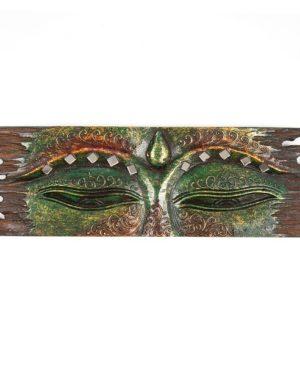 Buddha Eye Wall Hanging - Rough Edge - Green - Small