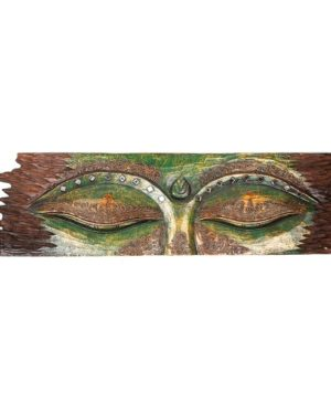 Buddha Eye Wall Hanging - Rough Edge - Green