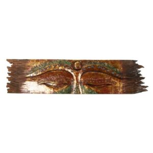 Buddha Eye Wall Hanging - Rough Edge - Red - Small