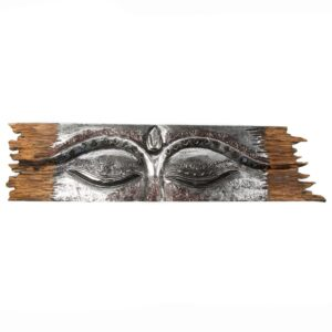 Silver Buddha Eyes Wall Panel
