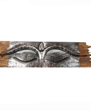 Buddha Eye Wall Hanging - Rough Edge - Silver - Small