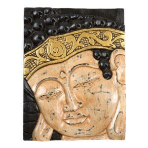 Buddha Wall Hanging - Cream and Gold