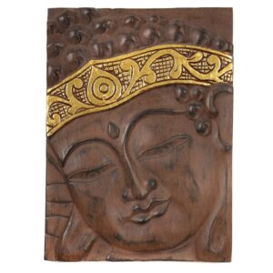 Buddha Wall Hanging - Brown Gold
