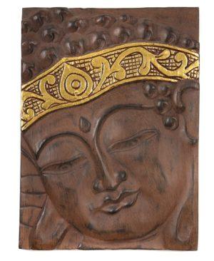 Buddha Wall Hanging - Brown Gold