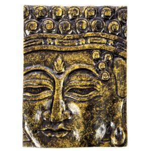 Buddha Wall Hanging - Black Gold