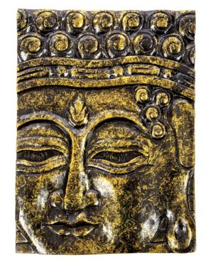 Buddha Wall Hanging - Black Gold