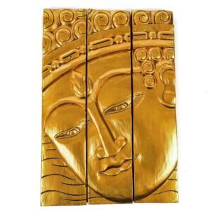 Gold 3 Panel Buddha Wall Hanging