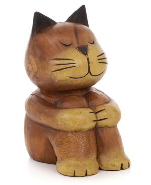 Cartoon Sitting Cat - Large