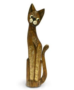Tall Cappucino Gold Bali Cat - 60cm