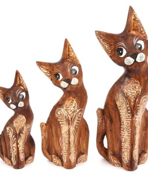 Cappucino Cats - set of 3