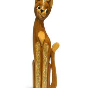 Tall Natural Gold Bali Cat - 60cm