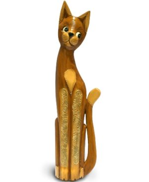 Tall Natural Gold Bali Cat - 60cm
