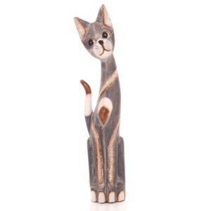 Tall Grey Bali Cat - 60cm