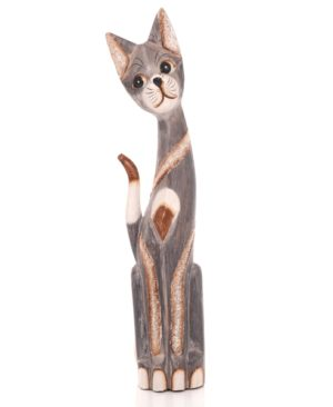 Tall Grey Bali Cat - 60cm