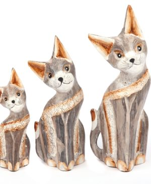 Small Grey Cats - set of 3