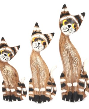 Bright Eyed Cats - set of 3