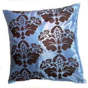 Brown and Blue Thai Cushion Cover 04