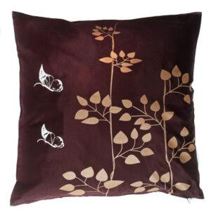 Brown Floral Thai Cushion Cover 07