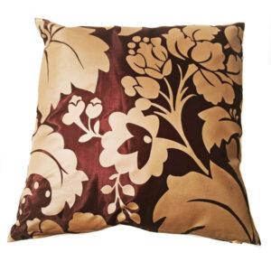 Brown Floral Thai Cushion Cover 08