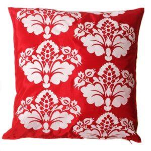 Red Floral Thai Cushion Cover 13
