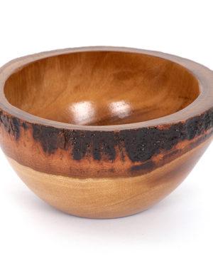 Natural Round Mango Wood Bowl - Small